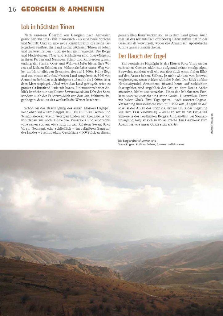 Georgien Armenien Berge Kirchen Und Einige Genussmittel