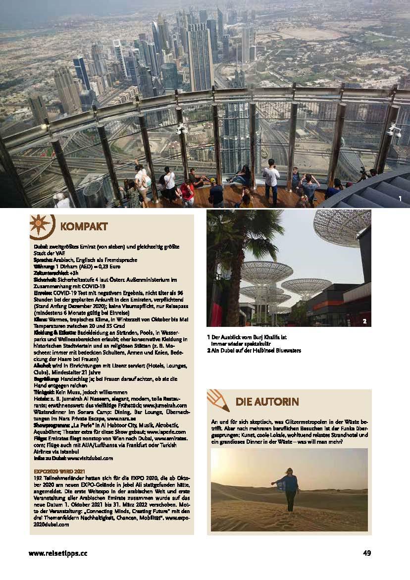 Reisetipps 25 20, Dubai